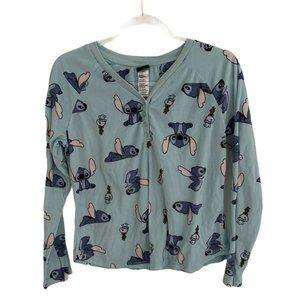 Disney Stitch & Scrump Doll Soft Blue Pajama Top W